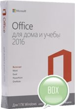 MICROSOFT Office для дома и учебы 2016, 32/64, Rus, Only Medialess, Only Medialess [79g-04322]