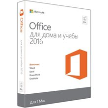 MICROSOFT Office для Mac для дома и учебы 2016, 32/64, Rus, Only Medialess, Only Medialess [gza-00585]