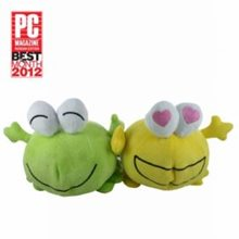 Ак.система CBR MF-600 Dapper Frogs (2Втх2), USB, плюш, сувенир.