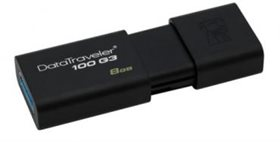 USB Flash drive 8Gb KINGSTON DT100G3/8GB Black USB3.0 RTL