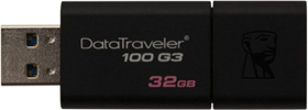 USB Flash drive 32Gb KINGSTON DT100G3/32GB Black USB3.0 RTL